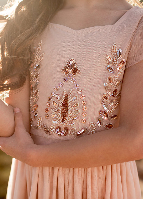 *NEW* Lexa Maxi Dress in Rose Gold