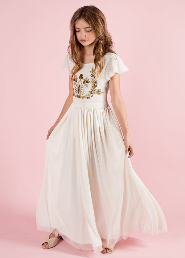 *NEW* Lexa Maxi Dress in Gold