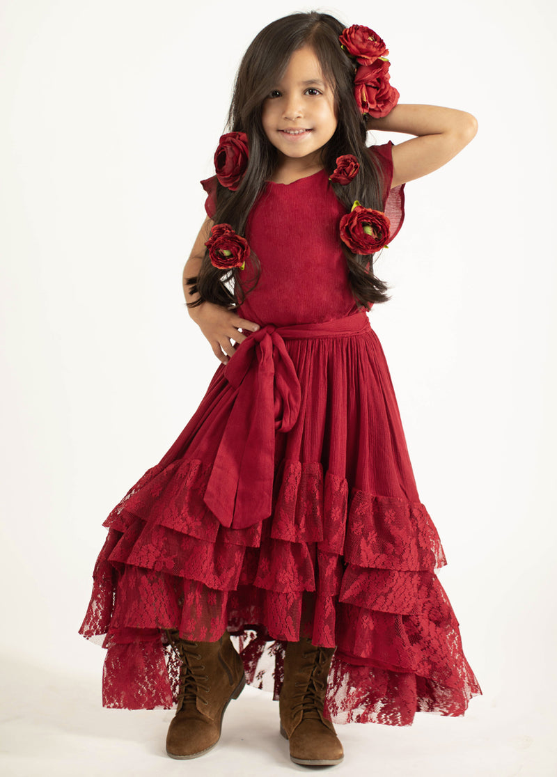 *NEW* Lorelai Dress in Sangria