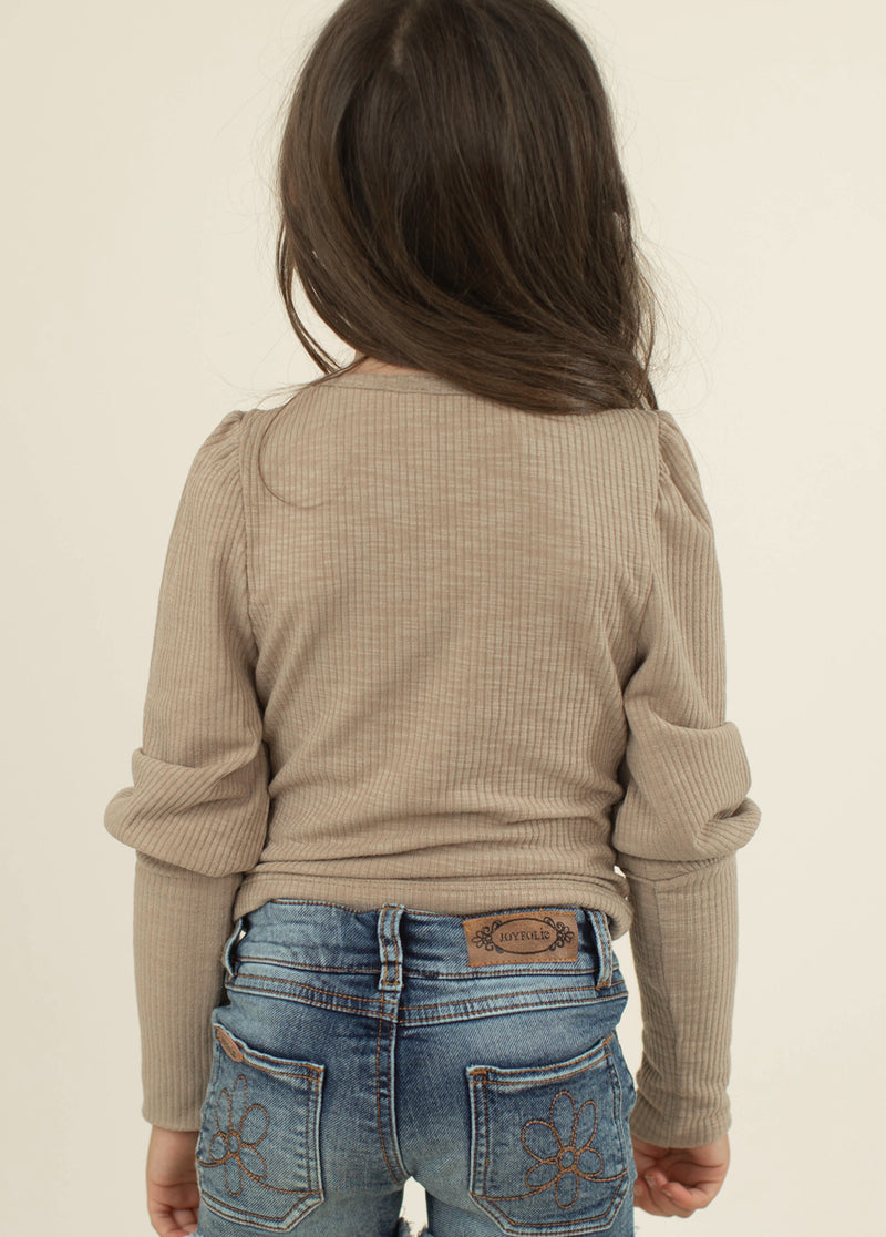 *NEW* Lynne Rib Top in Taupe