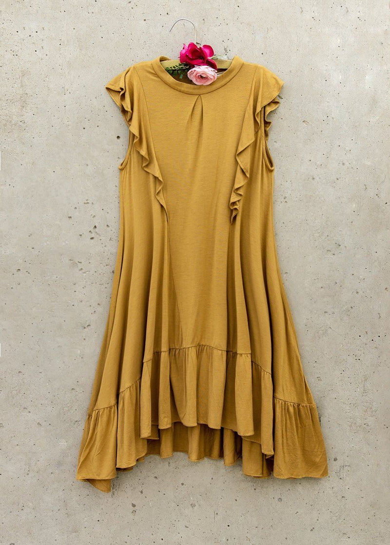 Makayla Dress in Ochre