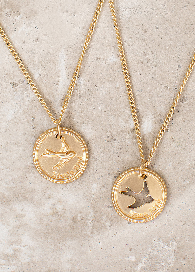 *NEW* Mama Bird Necklace Set in Gold