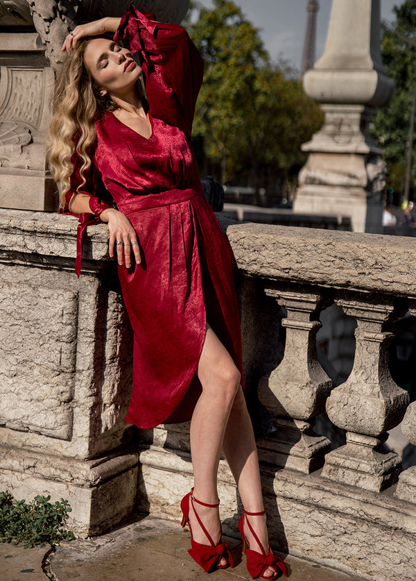 *NEW* Marcella Dress in Scarlet