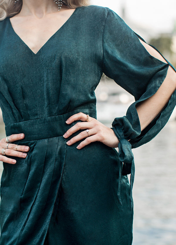 *NEW* Marcella Dress in Deep Teal