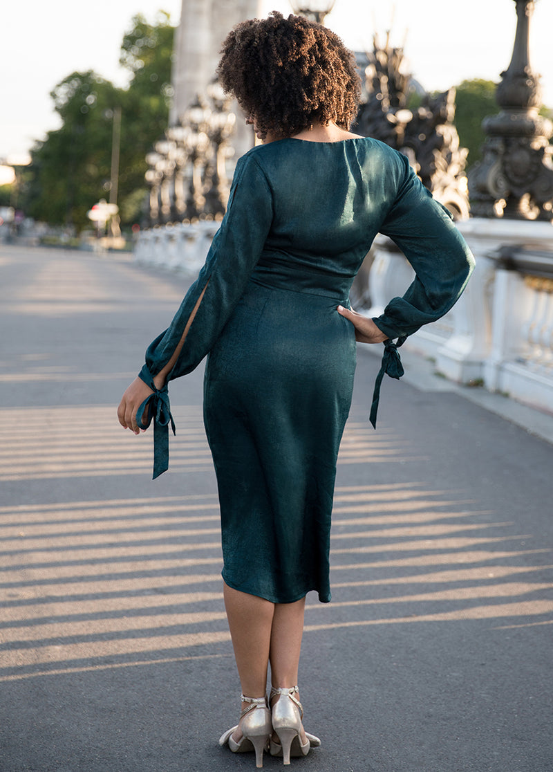 Marcella Dress in Deep Teal