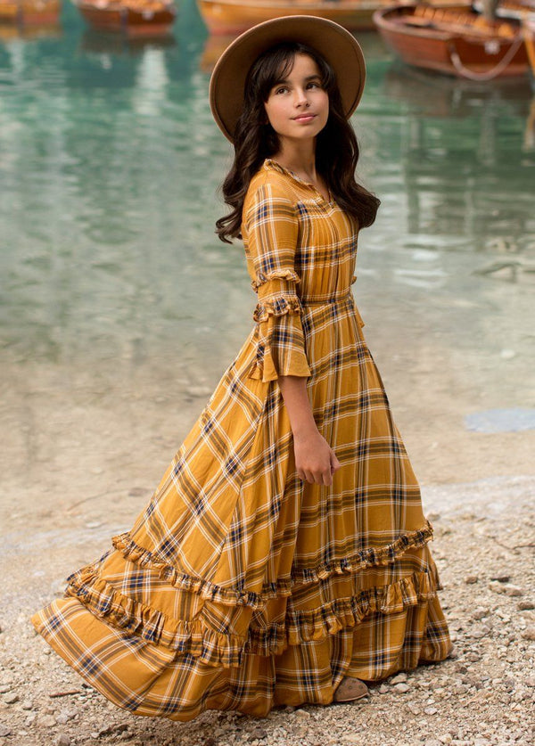 *NEW* Mariana Dress in Ochre Plaid