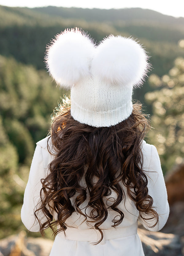 *NEW* Marlee Pom Hat in White