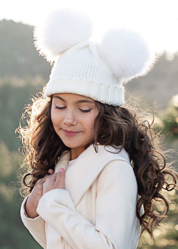 Marlee Pom Hat in White