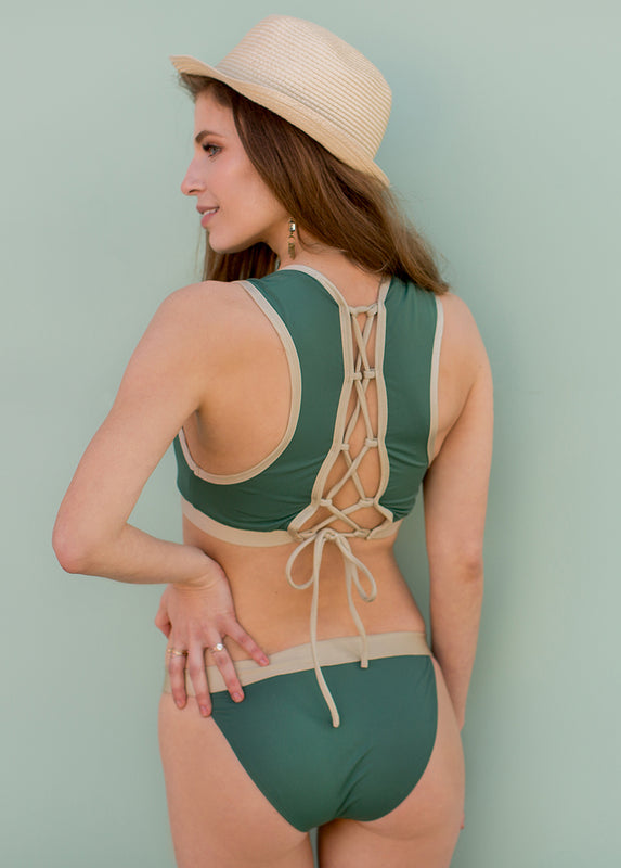 Maxine Two-Piece Swimsuit in Spruce