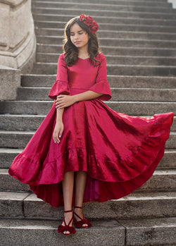 Mayra Dress in Scarlet