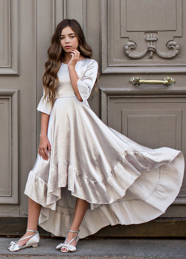 Mayra Dress in Silver
