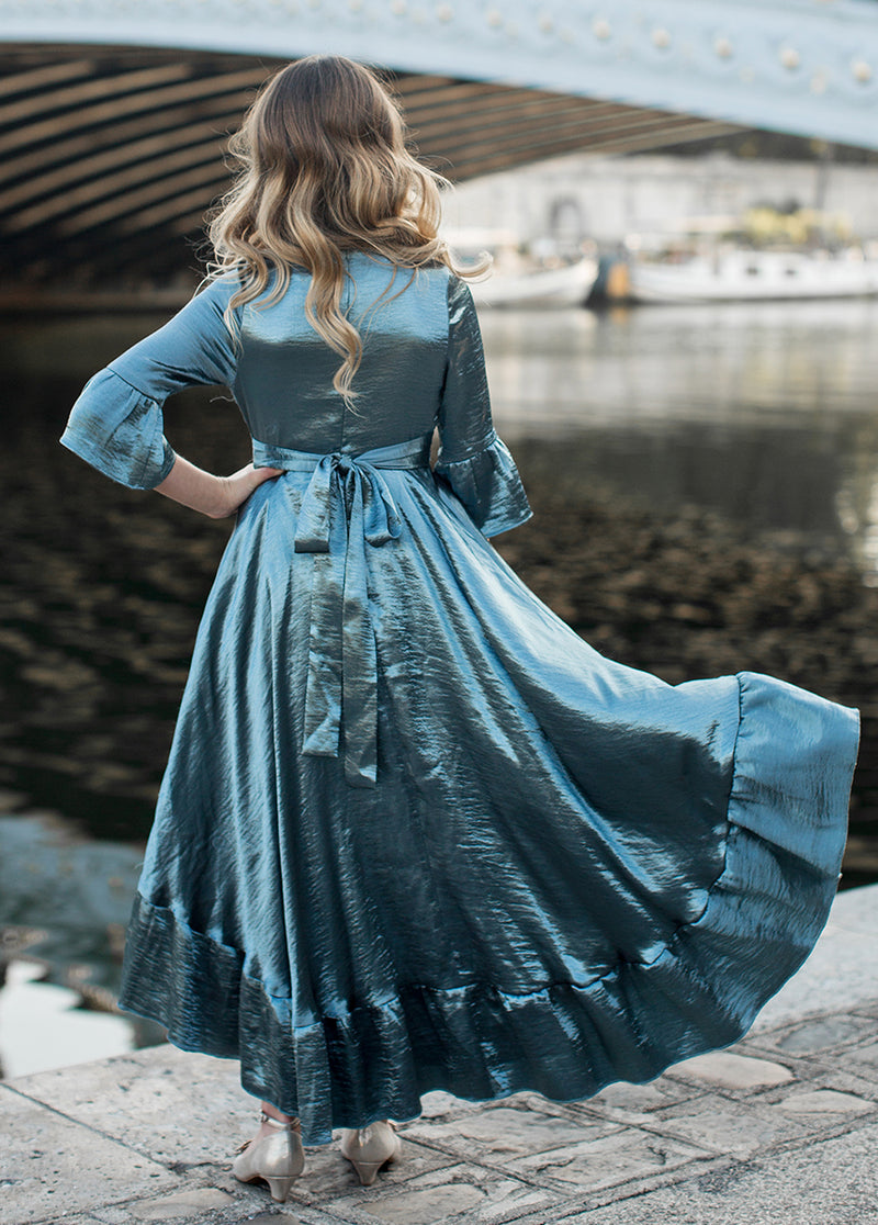 *NEW* Mayra Dress in Smoke Blue