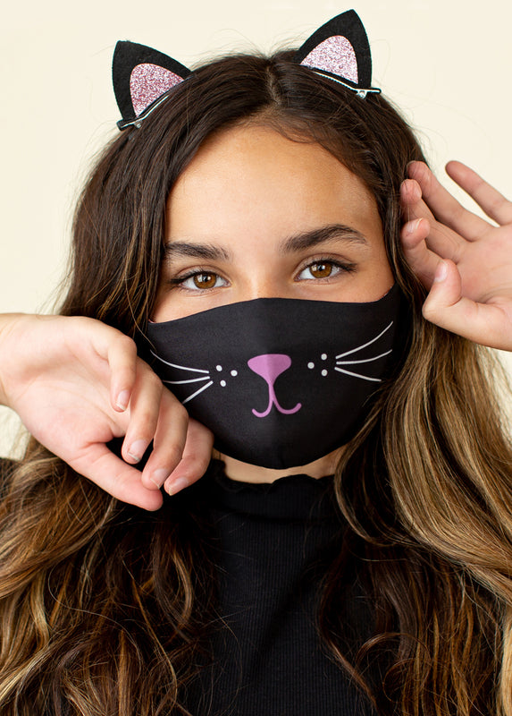 Meow Mask in Black
