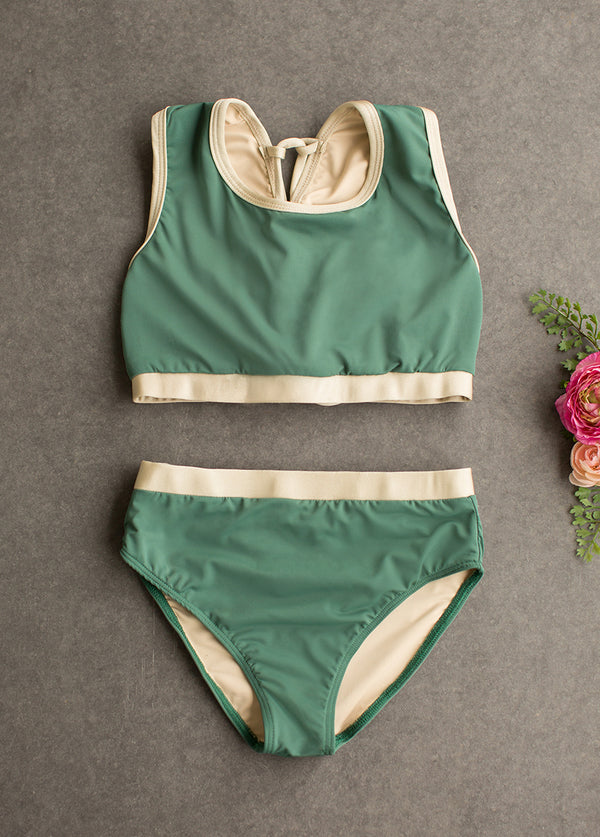 Mimi Two-Piece Swimsuit in Spruce