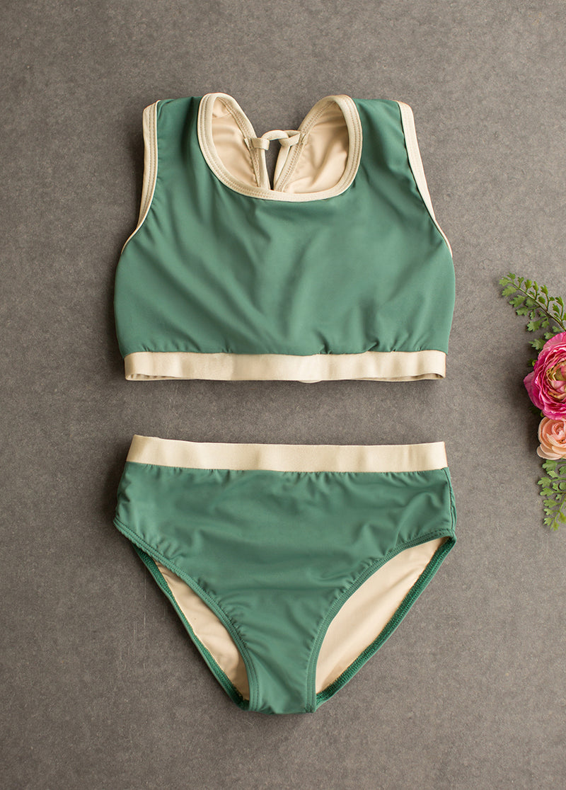 *NEW* Mimi Two-Piece Swimsuit in Spruce