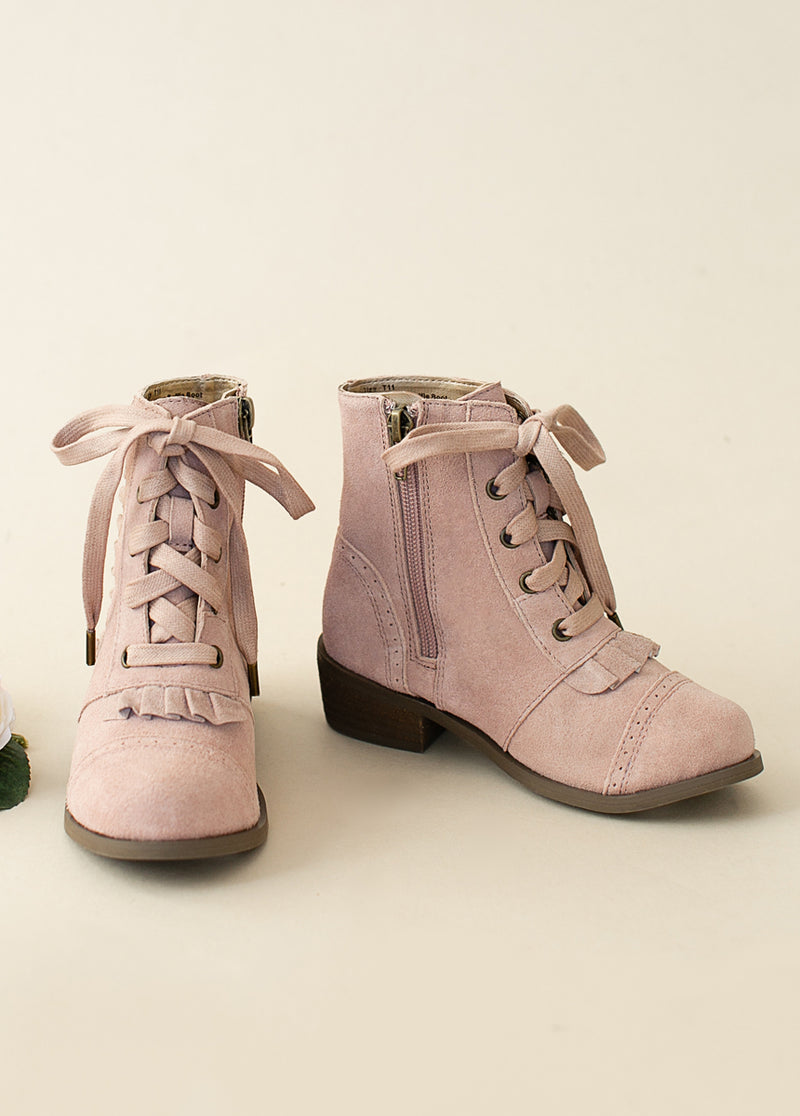 *NEW* Moen Ruffle Bootie in Mauve