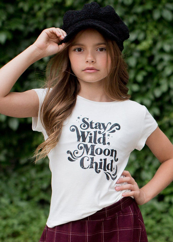 Moon Child Graphic Tee in Cream