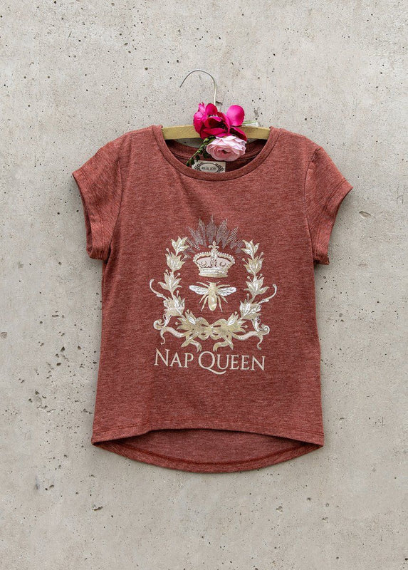 Nap Queen Tee in Cedar