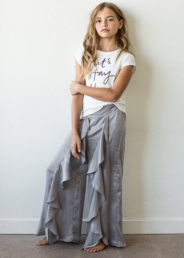 *NEW* Nicolette Pajama Pant in Silver Grey