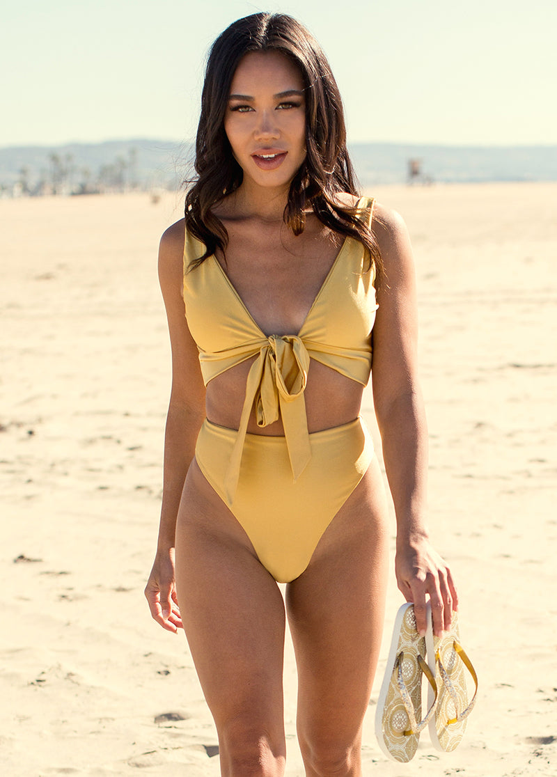 Nikki Two-Piece Swimsuit in Citron