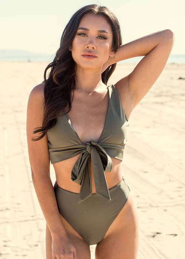 Nikki Two-Piece Swimsuit in Olive