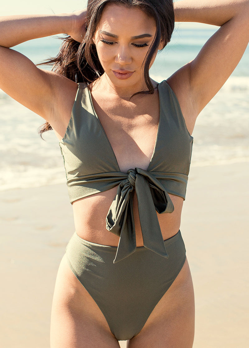 *NEW* Nikki Two-Piece Swimsuit in Olive