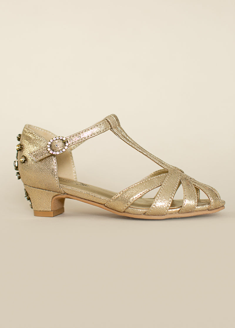 *NEW* Noelle Kitten Heel in Gold