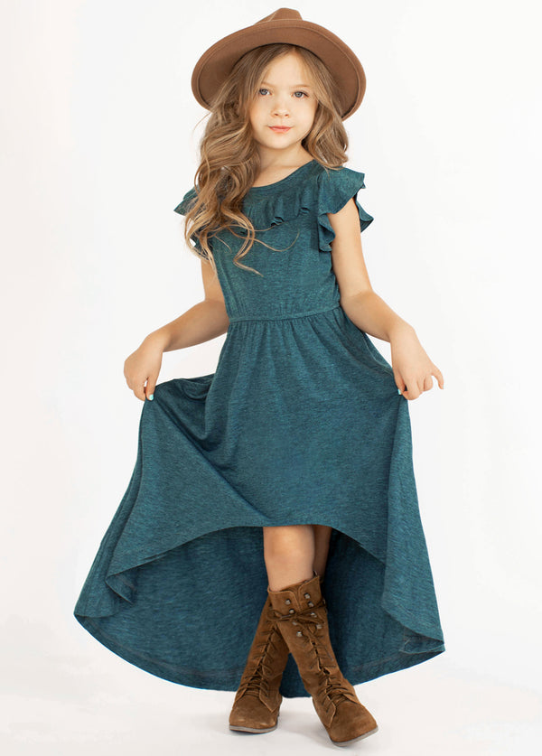 *SOLD OUT* Nyla Dress in Heather Teal