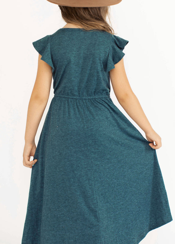 Nyla Dress in Heather Teal