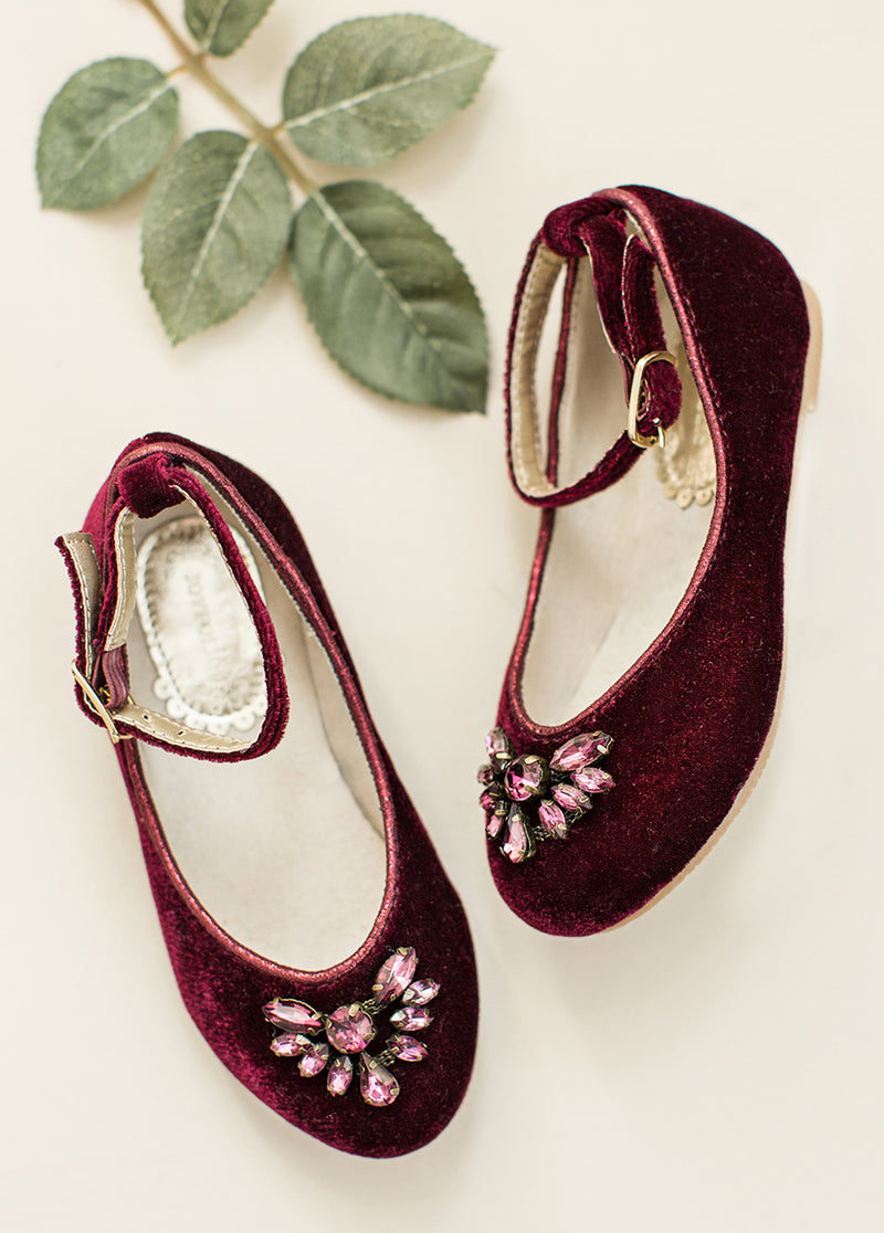 Penny Flat in Burgundy