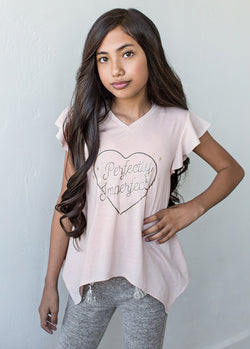 Perfectly Imperfect Top in Blush