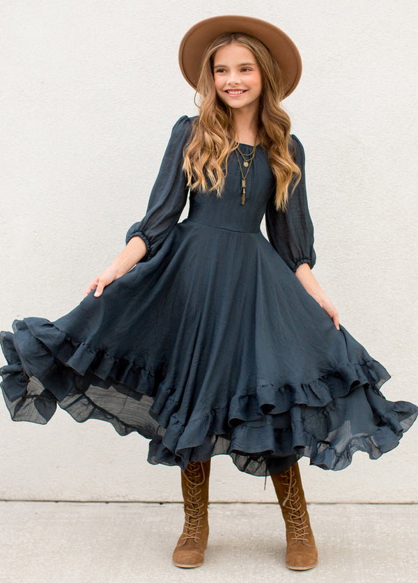 Raelynne Dress in Navy