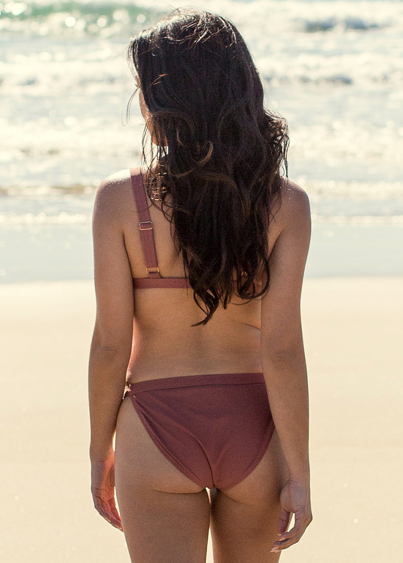 Rania Two-Piece Swimsuit in Dusty Rose