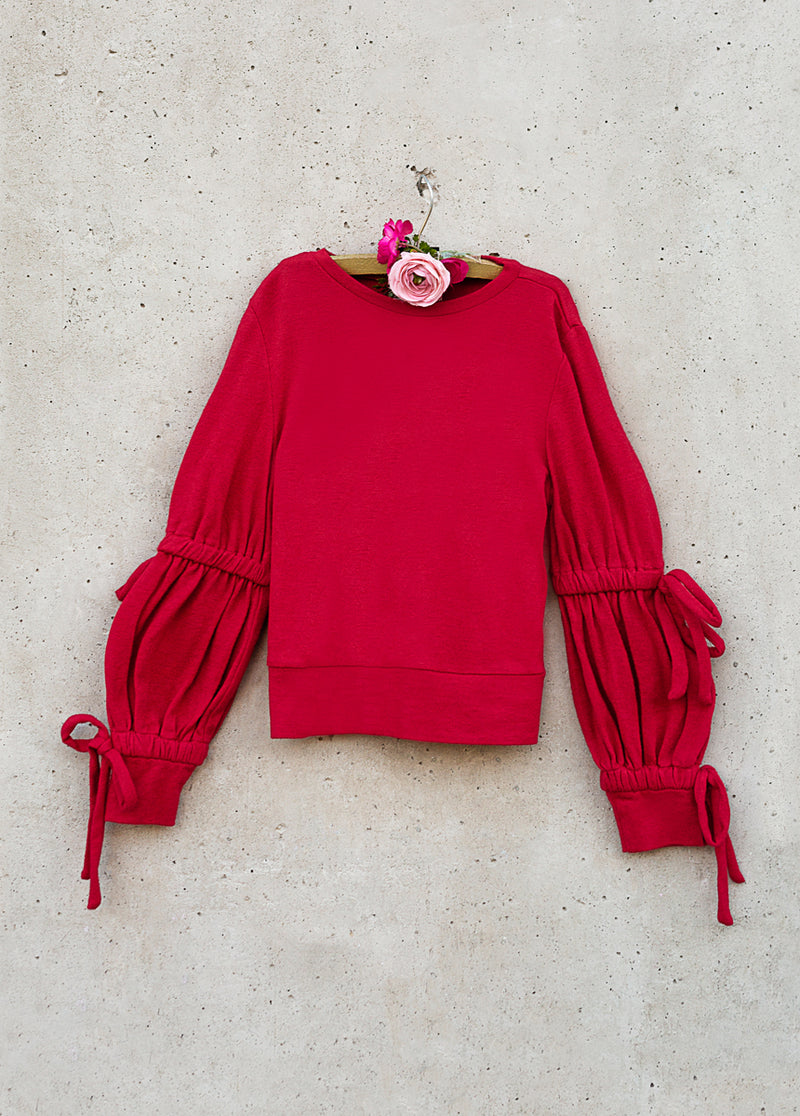 Reese Sweater in Crimson