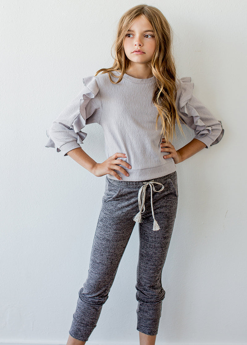 *NEW* Regina Top in Light Grey