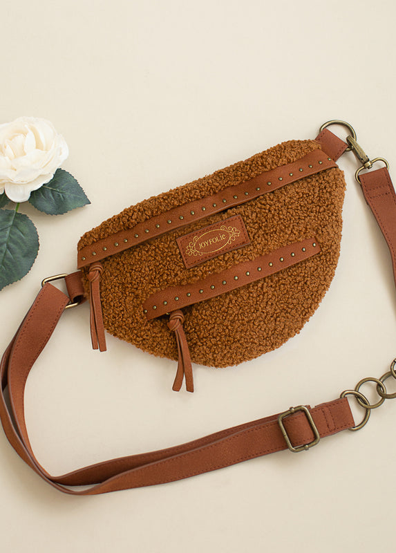 Remi Belt Bag in Brown Sherpa