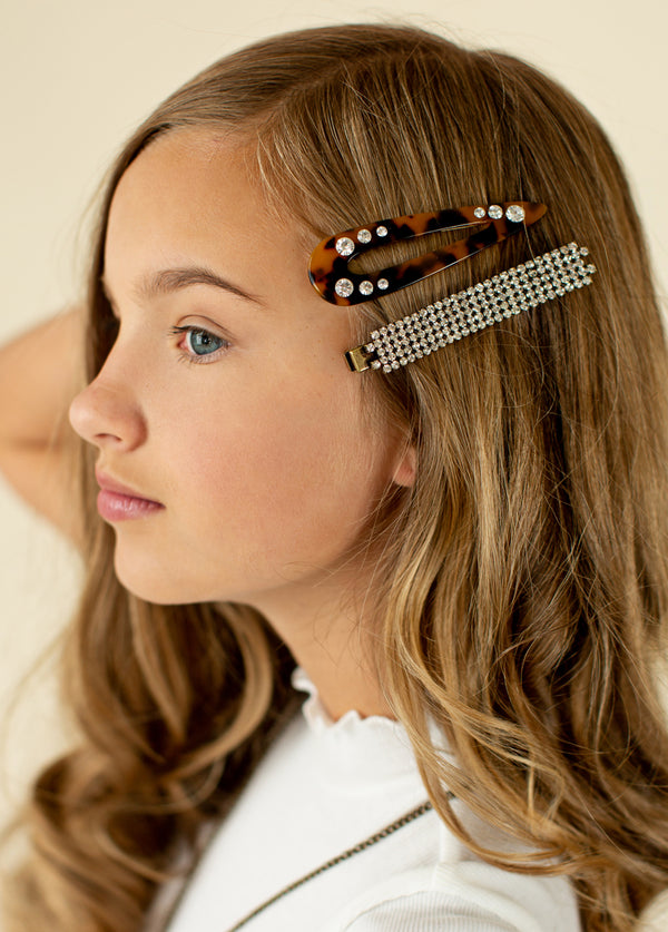 *NEW* Rhinestone Barrette Set