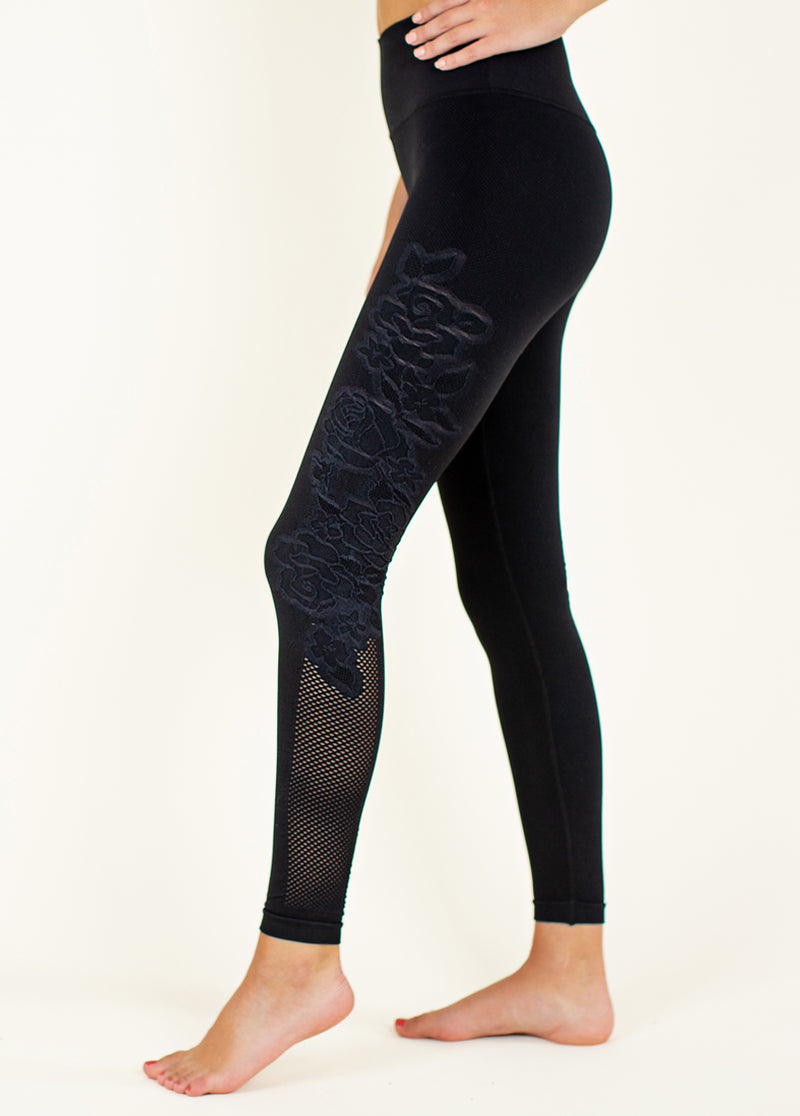 *NEW* Rosalie Seamless Leggings in Jet Black