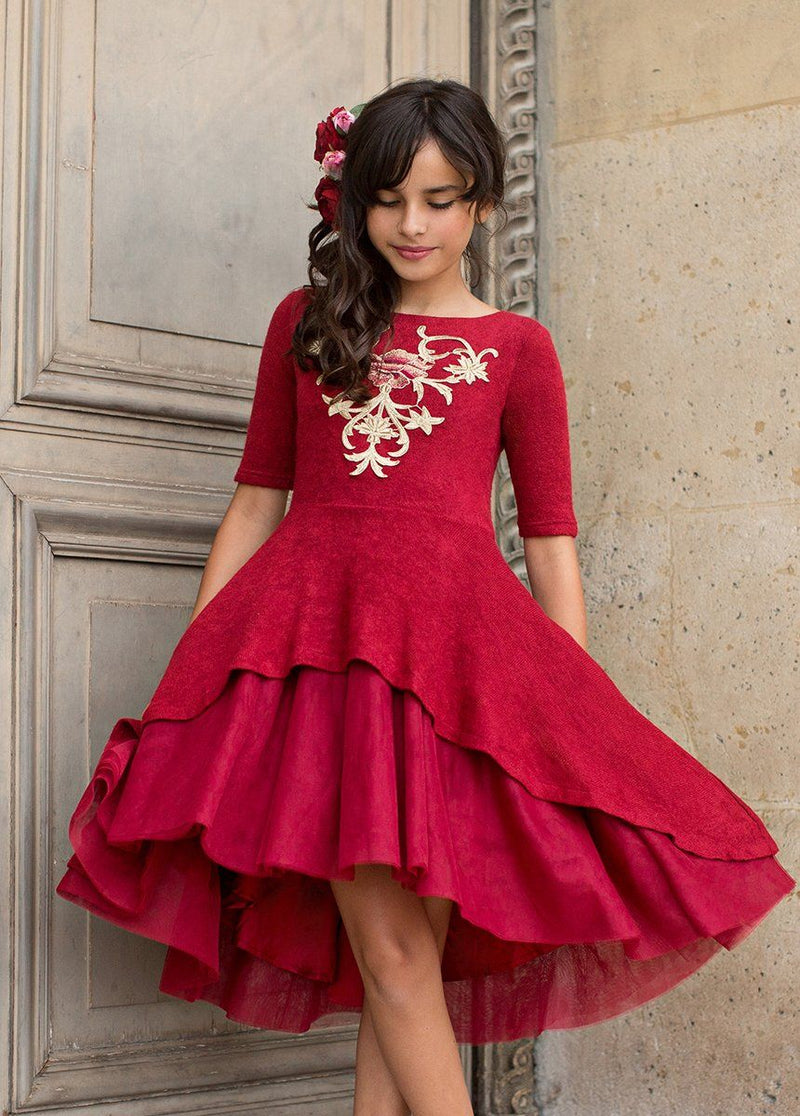 Roselyn Dress in Scarlet