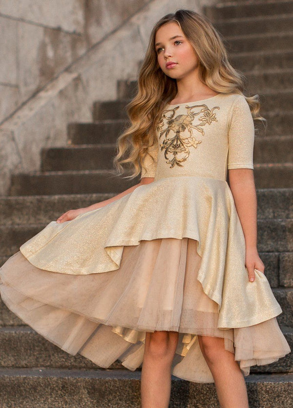 Roselyn Dress in Gold