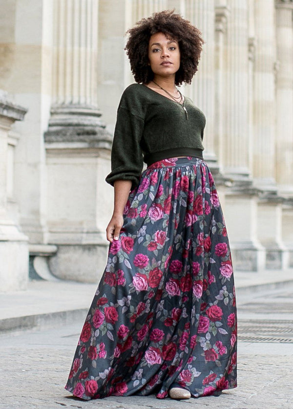 *NEW* Roxanne Maxi Skirt in Eva Floral