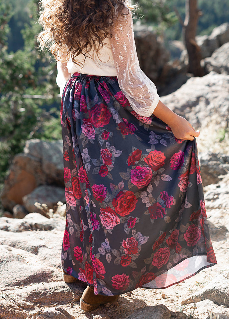 Roxy Maxi Skirt in Eva Floral