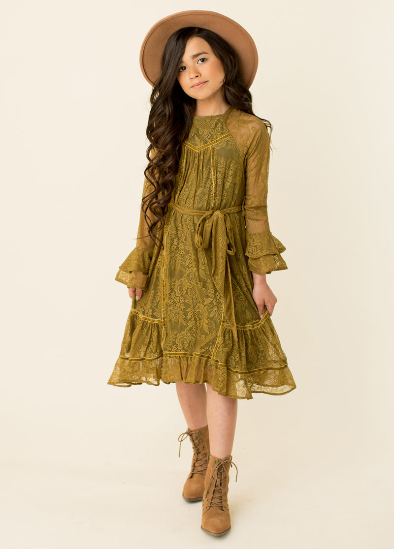 Sage Dress in Amber Green