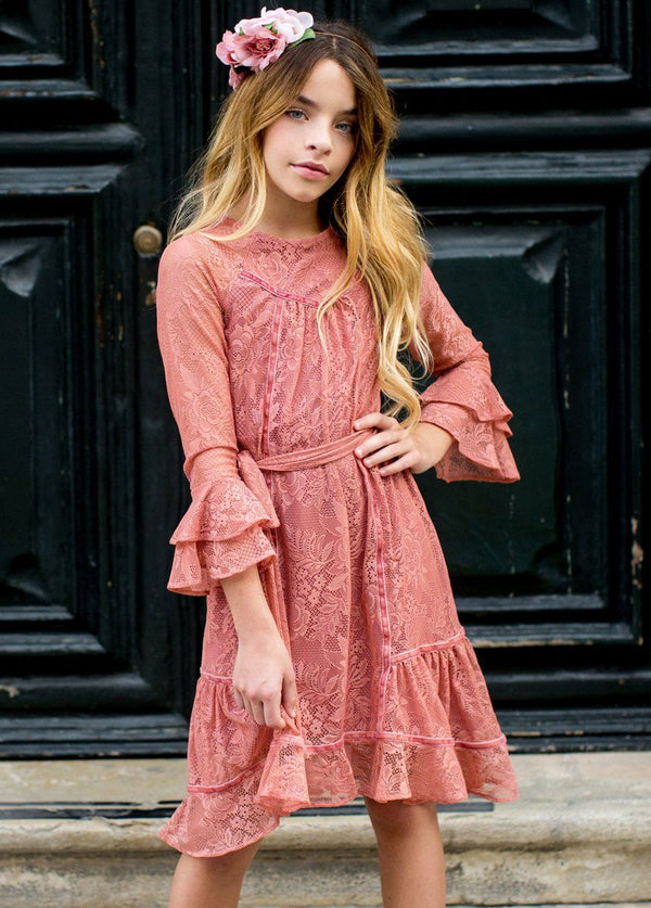 Sage Dress in Coral