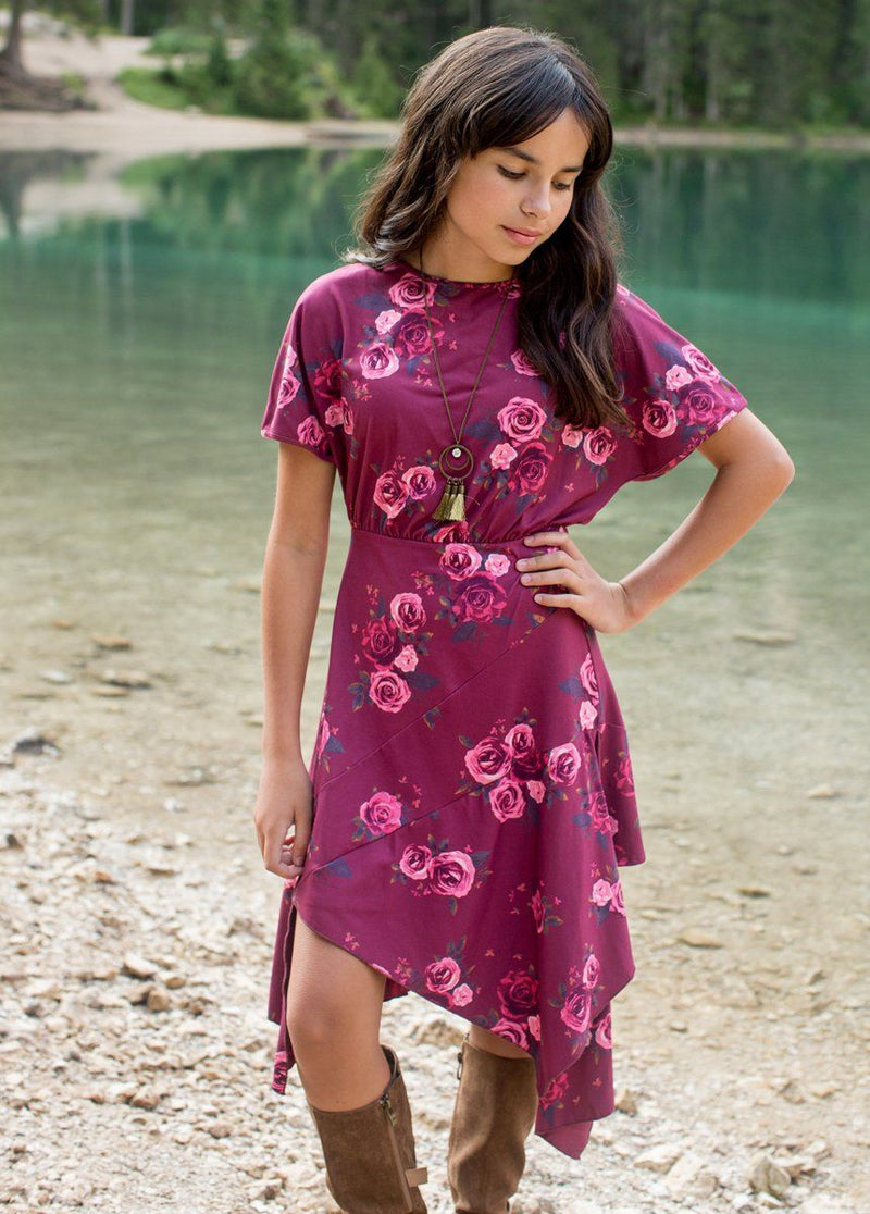 Shay Dress in Mauve Floral