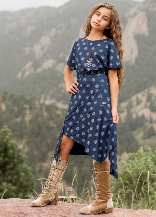 *NEW* Shay Dress in Navy Geo