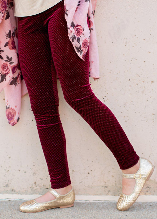 *NEW* Shianne Leggings in Burgundy