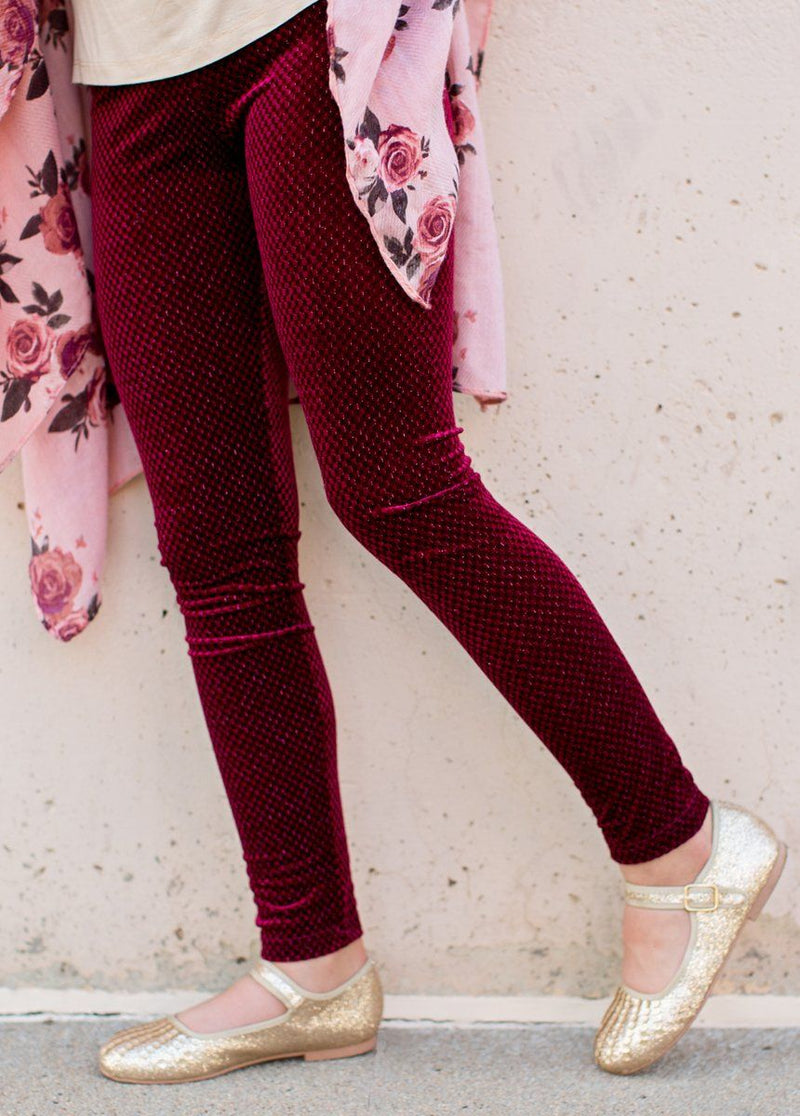 Shianne Leggings in Burgundy