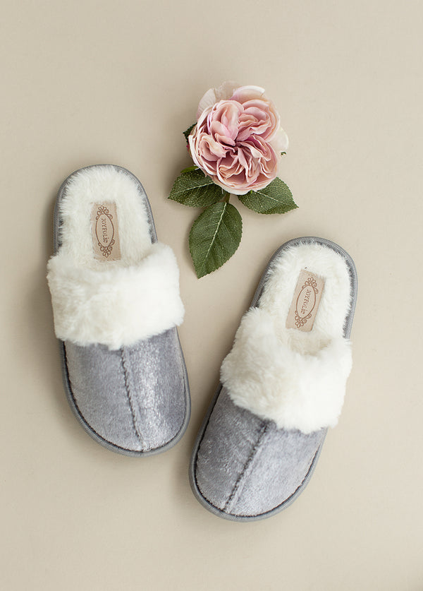 *NEW* Sylvie Velvet Slipper in Silver Birch