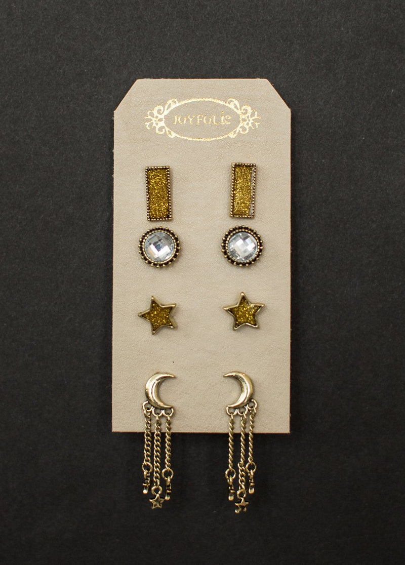 Star Stud Earring Set in Gold